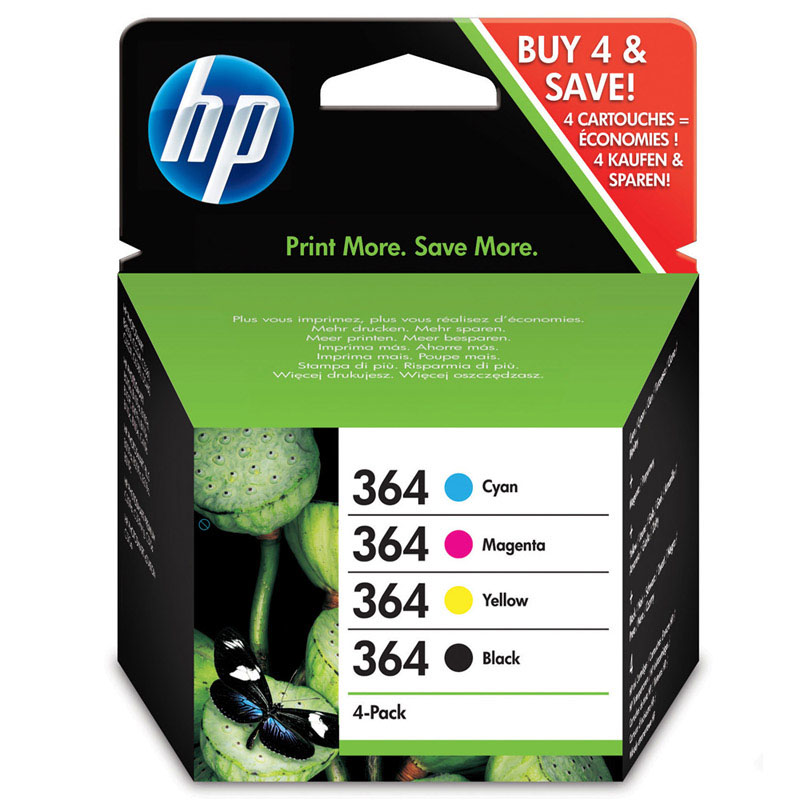 Tinta HP 364 -  1 Pack completo 4 colores