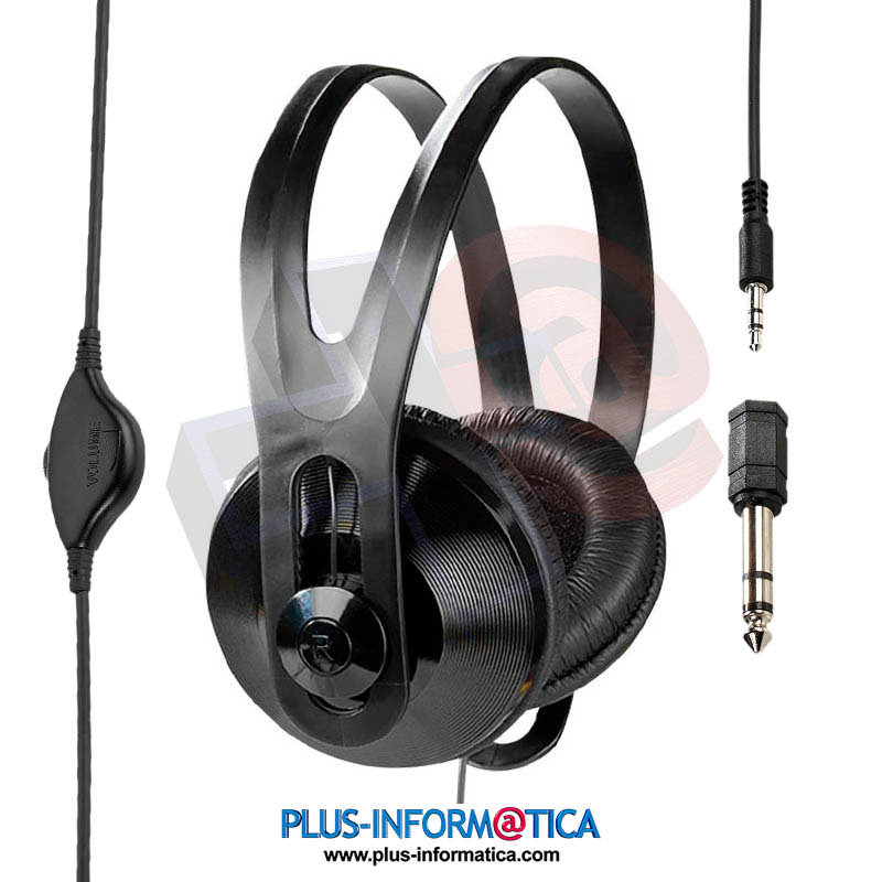 Auriculares Vivanco Estéreo TV negros cable 5m