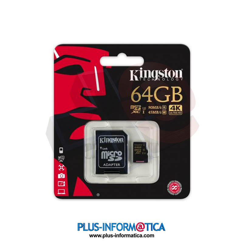 Tarjeta microSD Kingston 64GB (Class10) 4K