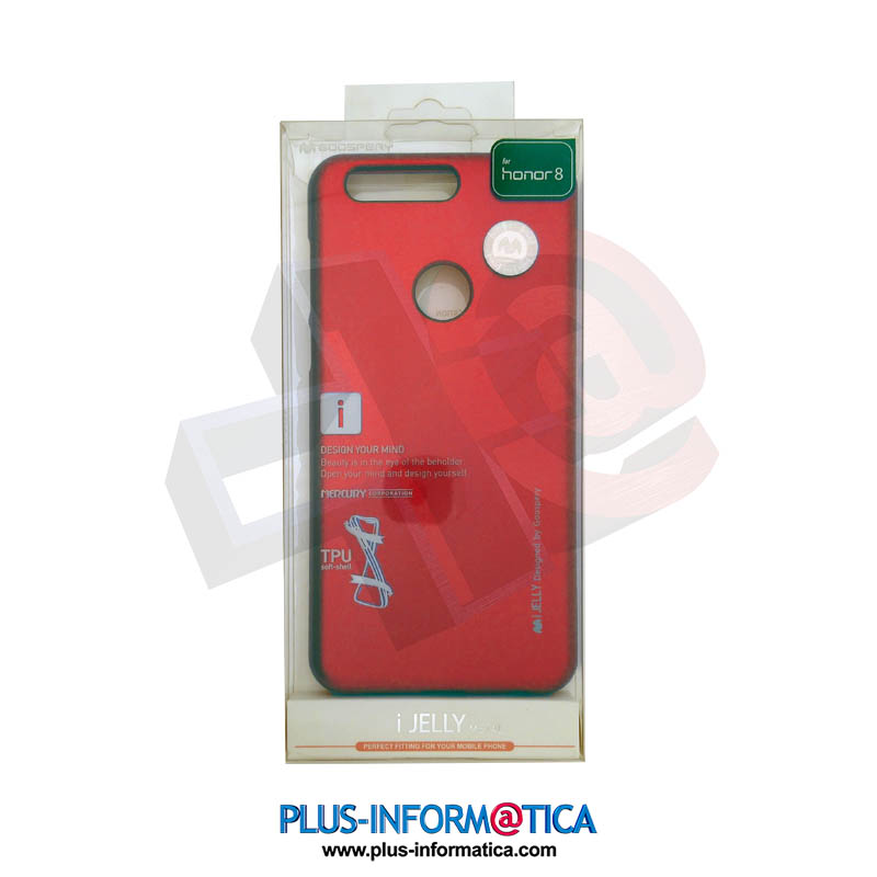 Funda Goospery i-Jelly Metal Huawei Honor 8 roja