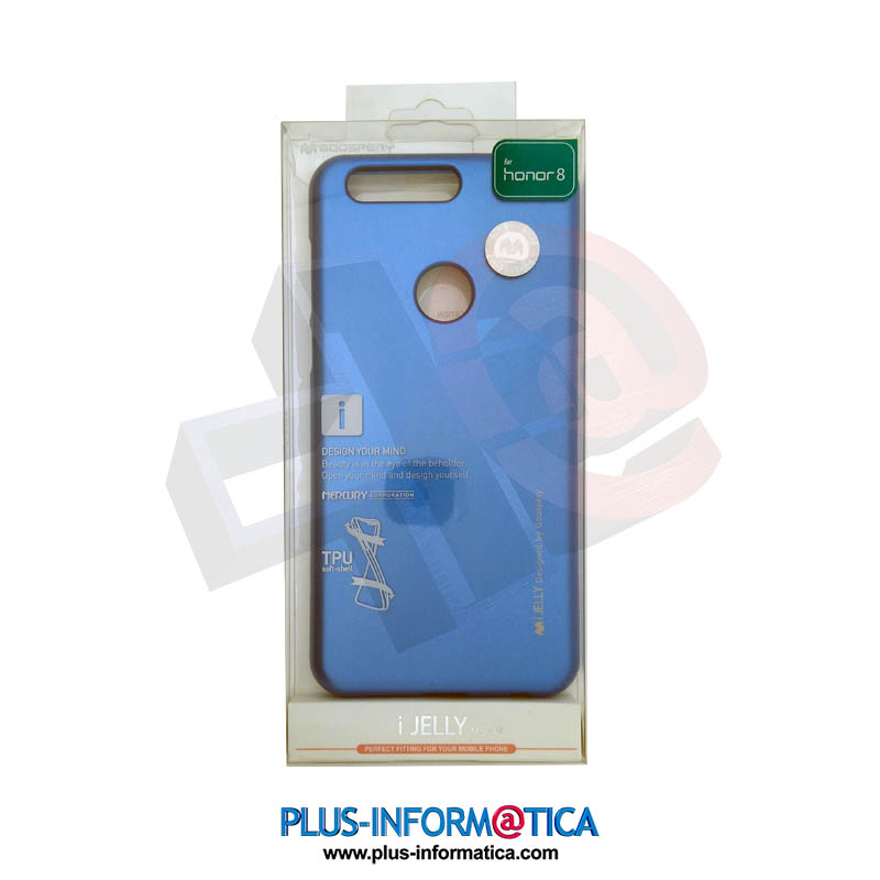 Funda Goospery i-Jelly Metal Huawei Honor 8 azul
