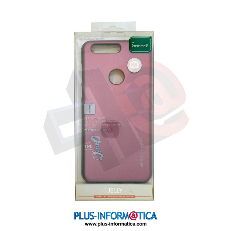 Funda Goospery i-Jelly Metal Huawei Honor 8 fucsia