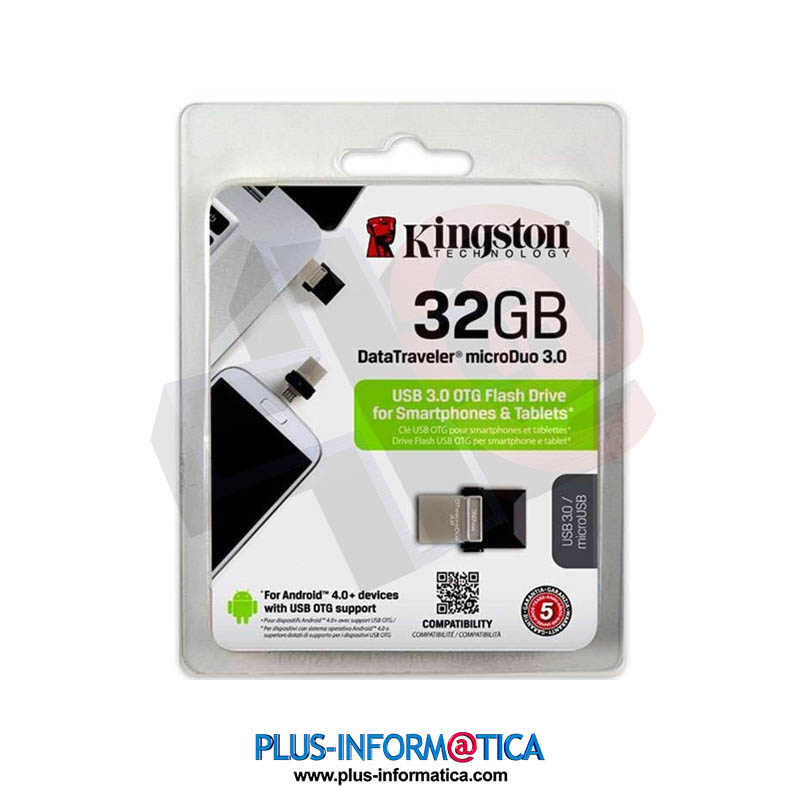 Pendrive Kingston DT microDuo OTG 32GBs