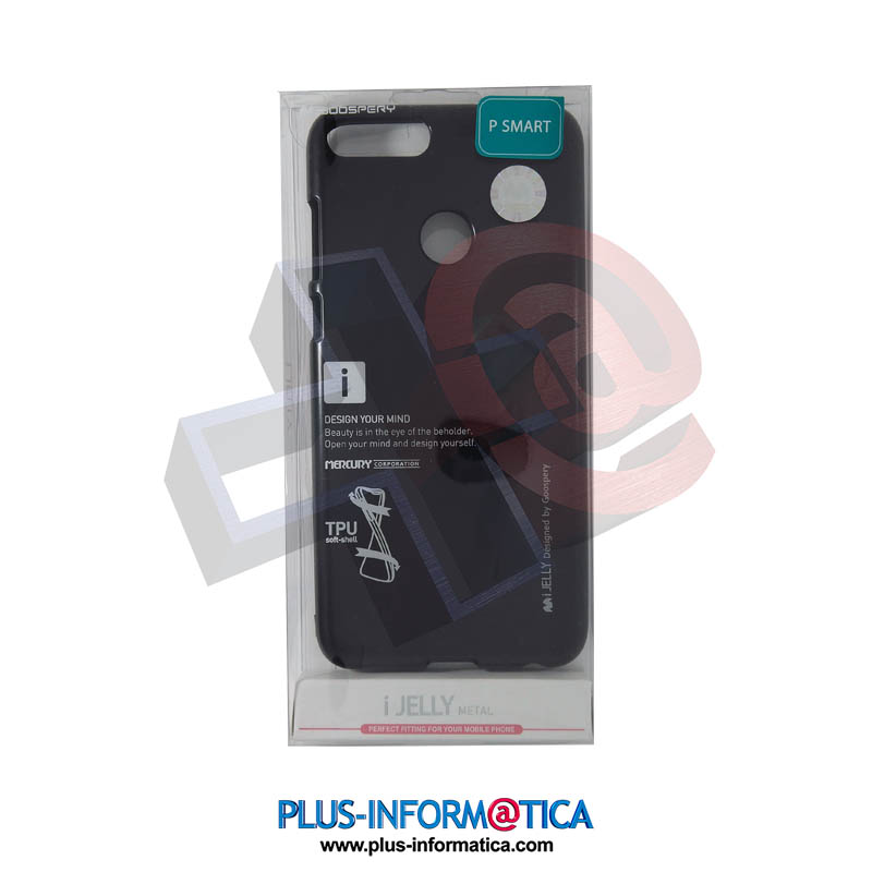 Funda Goospery i-Jelly Metal Huawei P Smart Negra