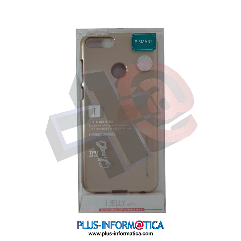 Funda Goospery i-Jelly Metal Huawei P Smart Dorada