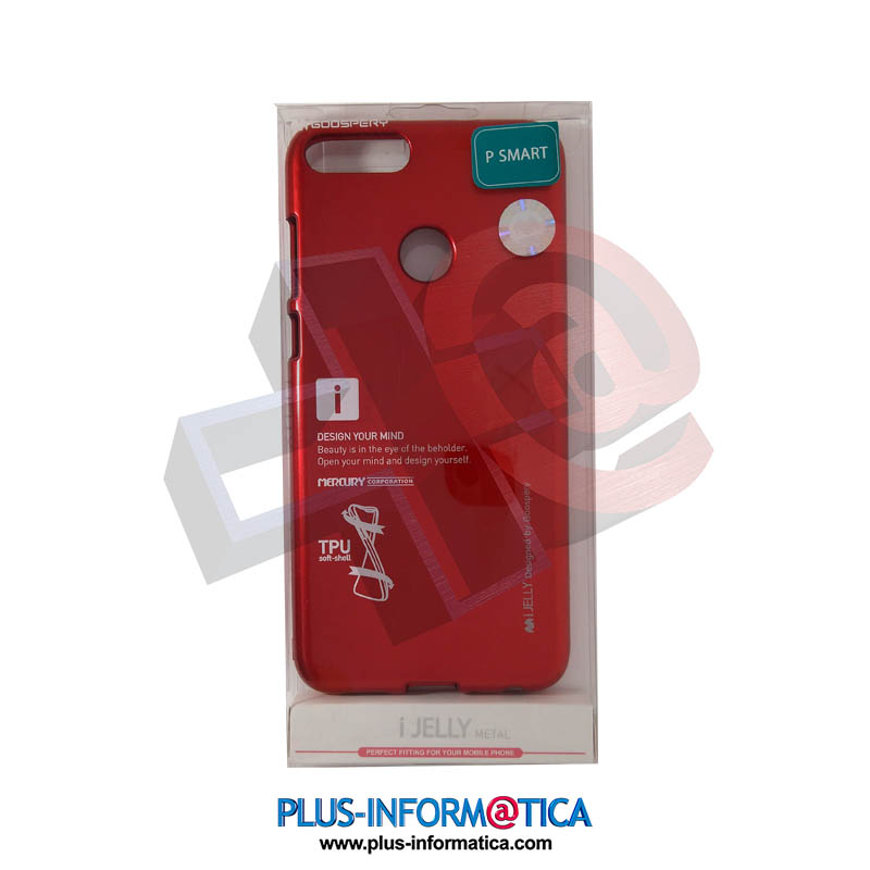 Funda Goospery i-Jelly Metal Huawei P Smart Roja