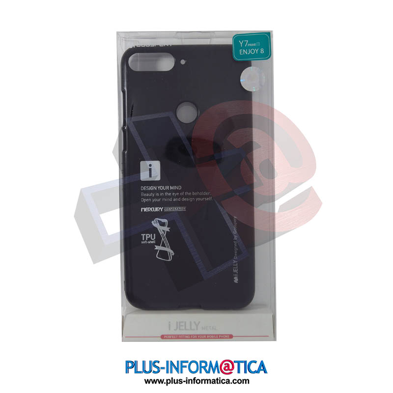 Funda Goospery i-Jelly Metal Huawei Y7 Prime 2018, Enjoy 8 Negra