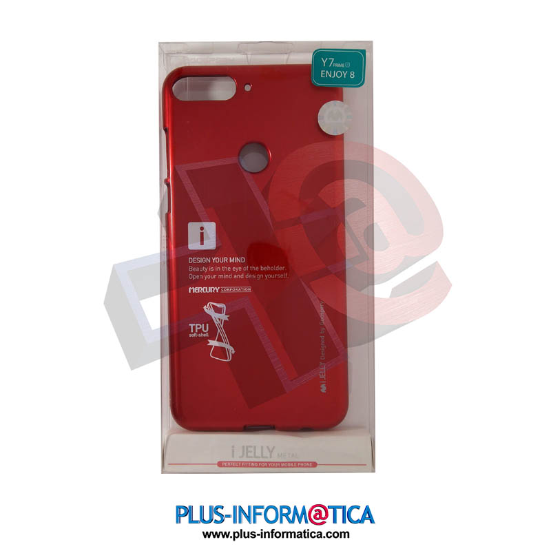 Funda Goospery i-Jelly Metal Huawei Y7 Prime 2018, Enjoy 8 Roja