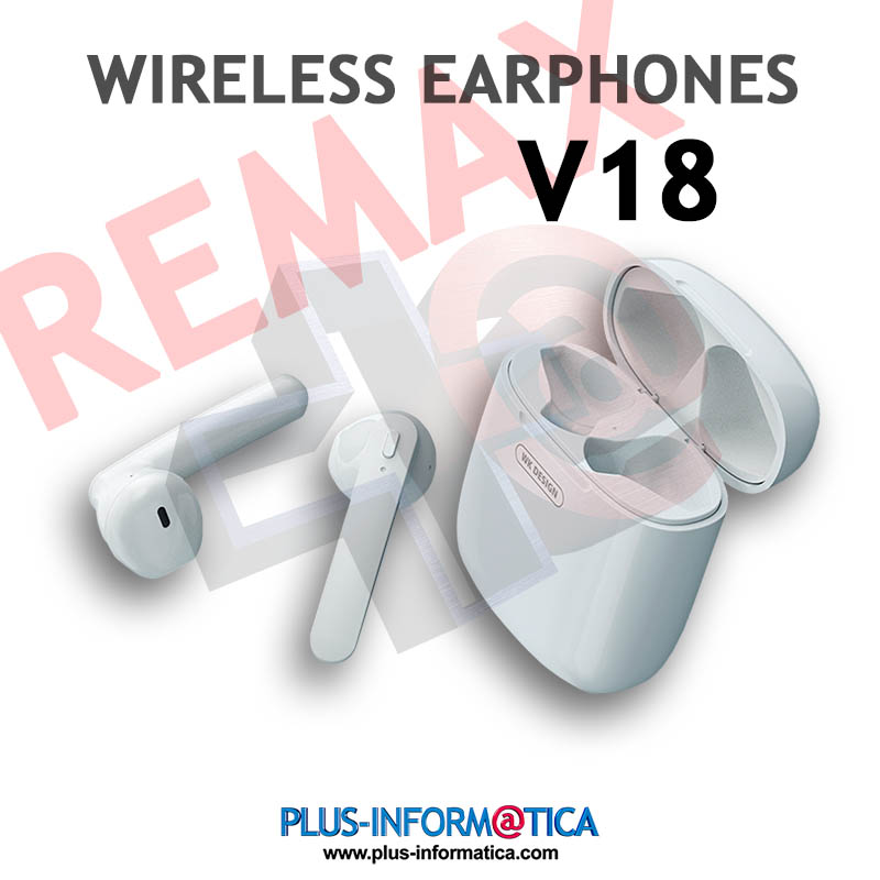 Auriculares Remax Earphones V18 Bluetooth blancos