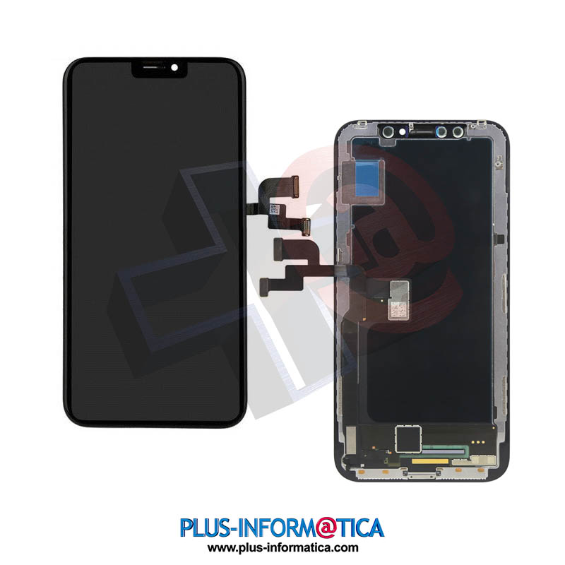 Pantalla iPhone X hard negro HEX AAA